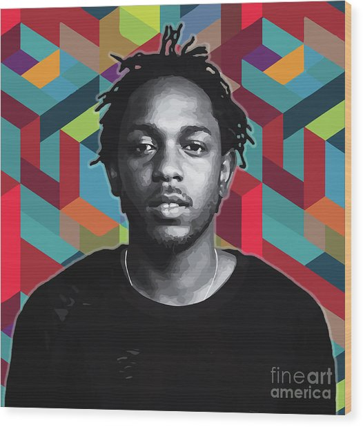 Wood Print featuring the painting Don't Kill My Vibe Kendrick by Carla B