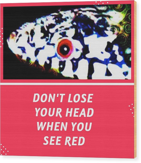 Wood Print featuring the photograph Don't Lose Your Head When You See Red by Judy Kennedy