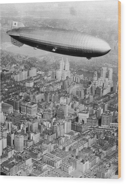 Doomed Airship Wood Print by Hulton Archive