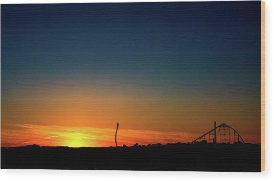 Dorney Park Sunset Wood Print