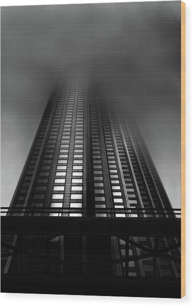 Wood Print featuring the photograph Downtown Toronto Fogfest No 11 by Brian Carson