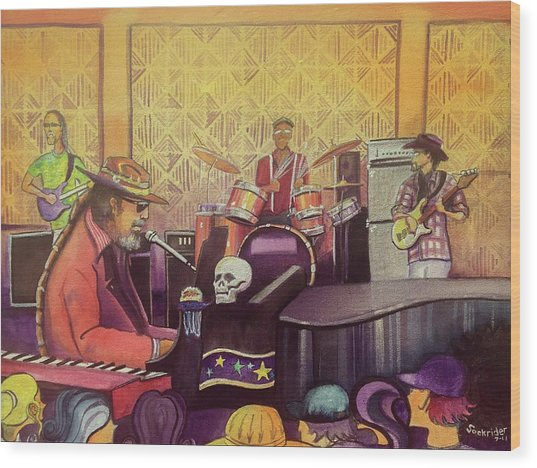 Dr John At Lake Dillon Amphitheater Wood Print