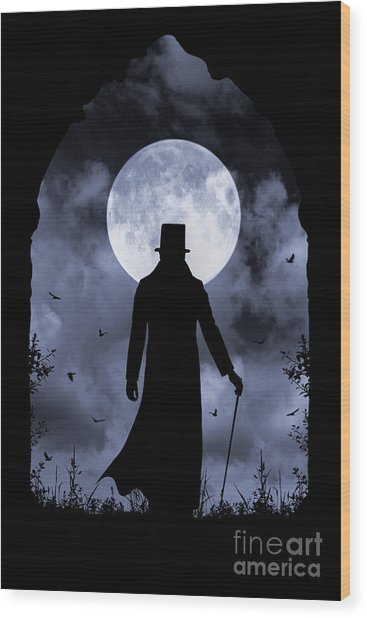 Dracula Returns Wood Print