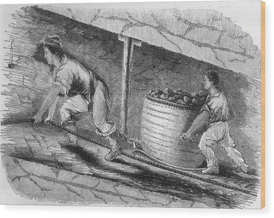 Dragging Coal Wood Print by Hulton Archive