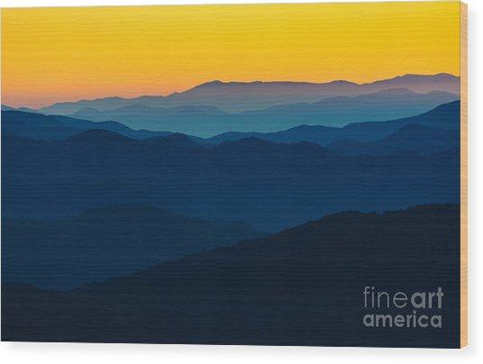 Dramatic Sunrise At Great Smokey Wood Print