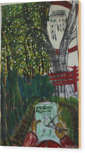 Drawing The Lavish Abuser Wood Print