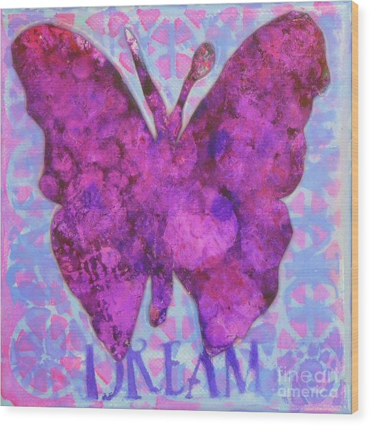 Dream Butterfly Wood Print