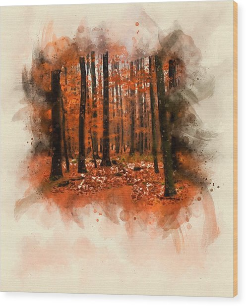 Dream Forest Wood Print