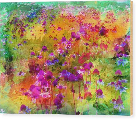 Dream Of Flowers Wood Print