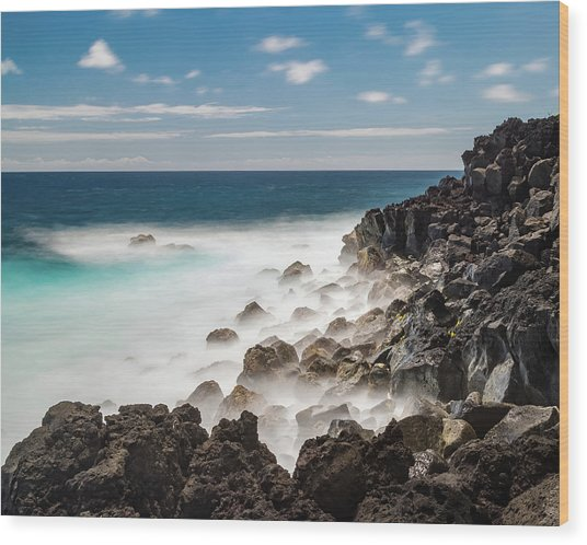 Wood Print featuring the photograph Dreamy Hawaiian Coastline by William Dickman