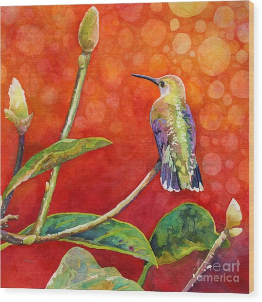 Dreamy Hummer Wood Print
