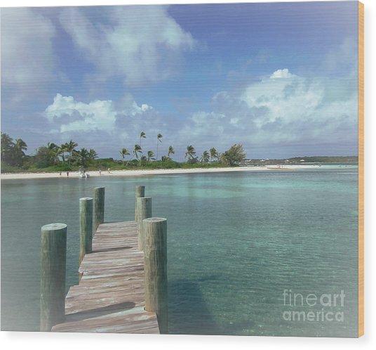 Dreamy View Beach Wood Print