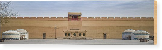 Drill Field Guan City Jiayuguan Gansu China Wood Print