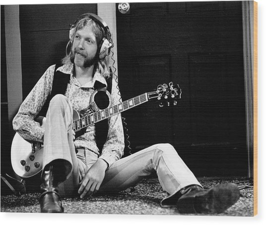 Duane Allman At Muscle Shoals Wood Print