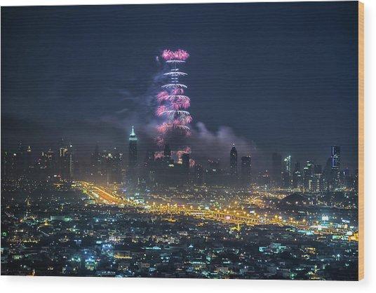 Dubai Wood Print by Harith Samarawickrama