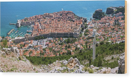 Dubrovnik Panorama From The Hill Wood Print
