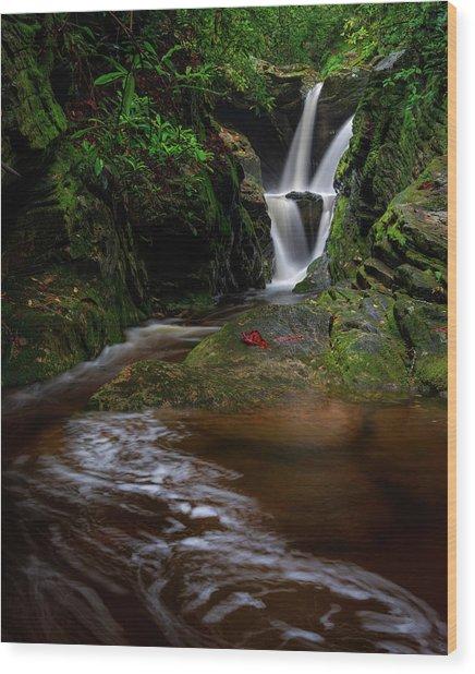 Duggers Creek Falls - Blue Ridge Parkway - North Carolina Wood Print
