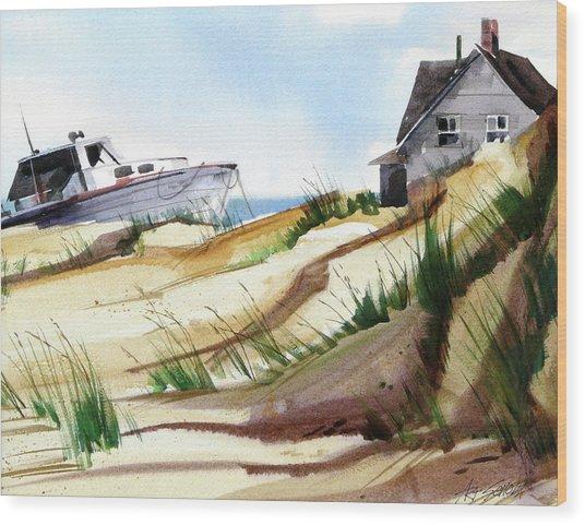 Dune Docked Wood Print by Art Scholz