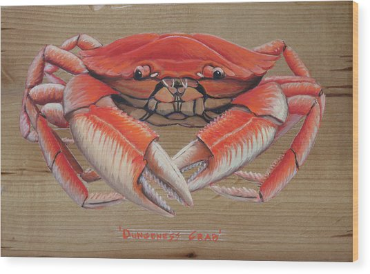 Dungeness Crab Wood Print