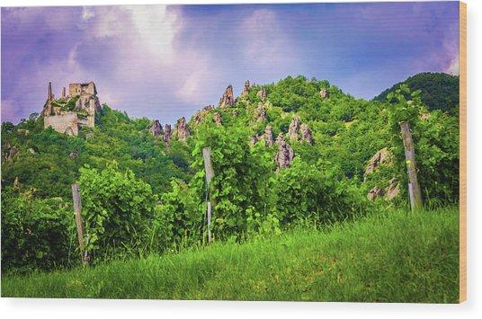 Durnstein Vineyard Wood Print