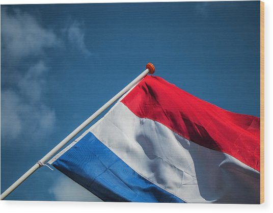 Wood Print featuring the photograph Dutch Flag by Anjo Ten Kate