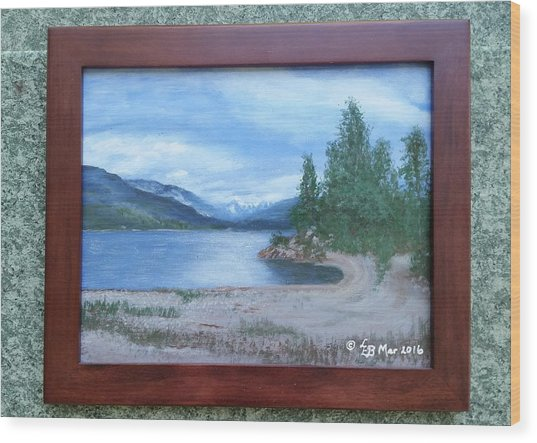 Dutch Harbour, Kootenay Lake Wood Print