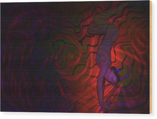 Dynamic Color 3 Wood Print