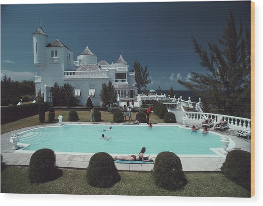Earl Levys Castle Wood Print by Slim Aarons