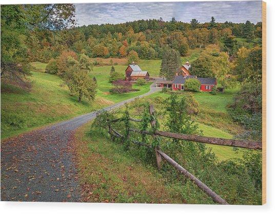 Early Fall At Sleepy Hollow Farm Wood Print