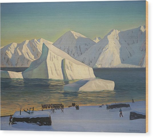 Early November North Greenland Wood Print by Rockwell Kent