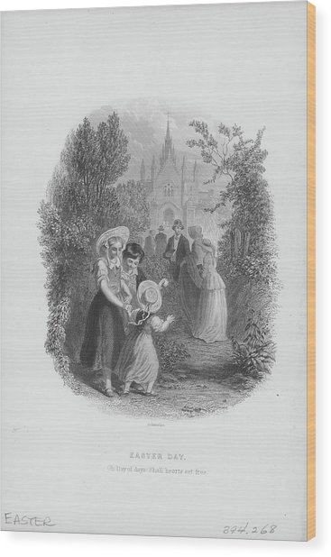 Easter Day Celebration Wood Print by Archive Photos