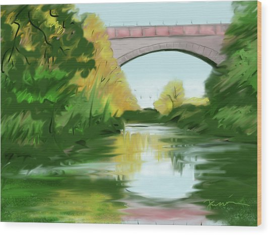 Echo Bridge Wood Print