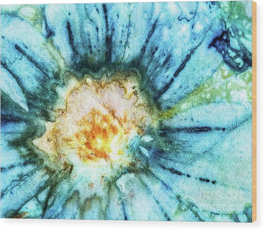 Eco Dyed Cosmos Wood Print