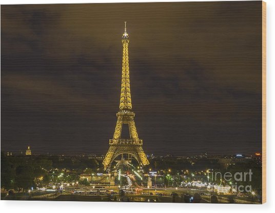 Eiffel Tower 1 Wood Print