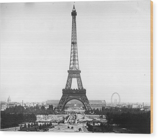 Eiffel Tower Wood Print by Hulton Archive