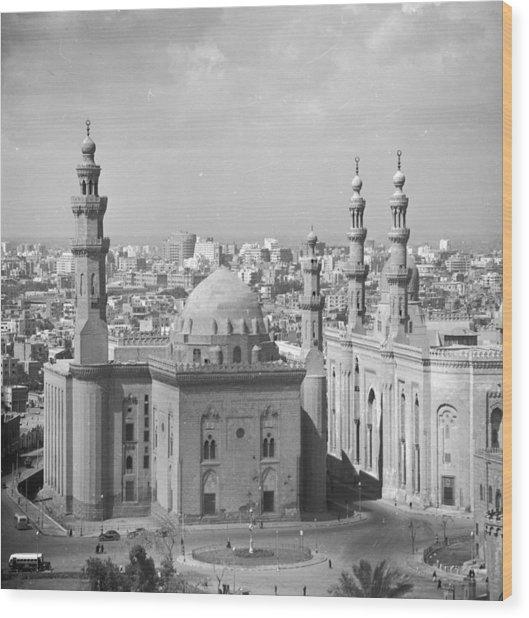 El Azhar Mosque Wood Print by Three Lions