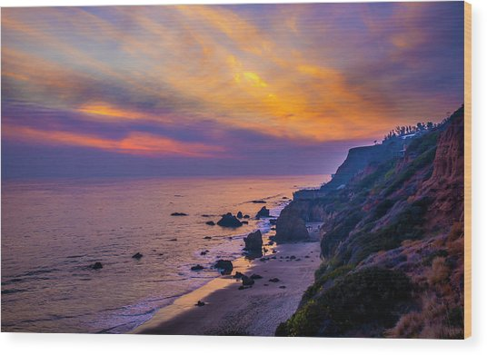 El Matador Sunset Wood Print
