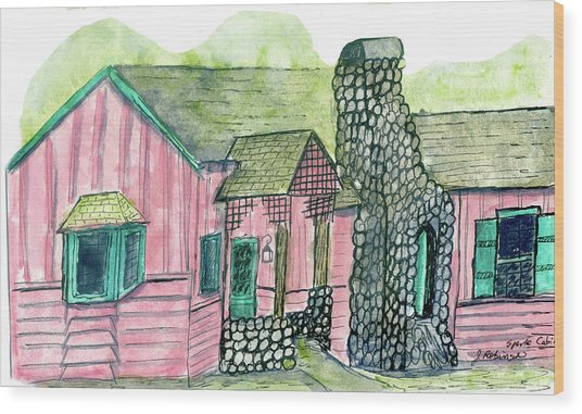 Spence Cabin In Elkmont Wood Print