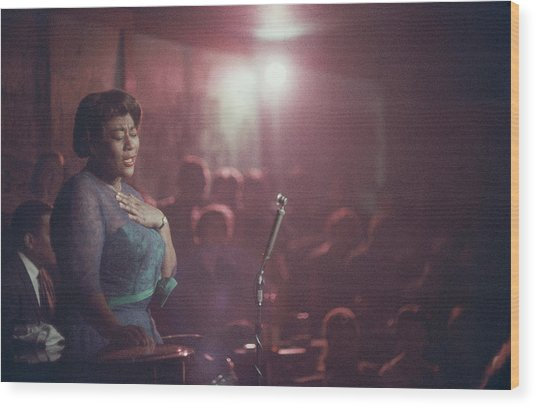 Ella Fitzgerald Performs Wood Print
