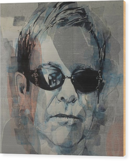 Elton John  Rocket Man  Wood Print