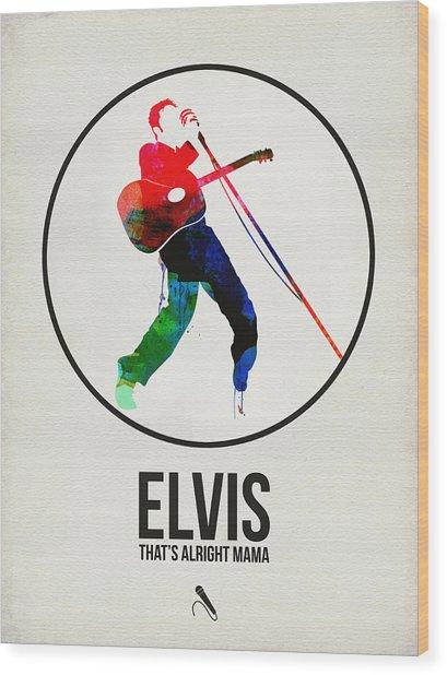 Elvis Presley Watercolor Wood Print
