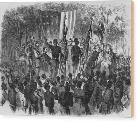 Emancipation Day Wood Print by Fotosearch