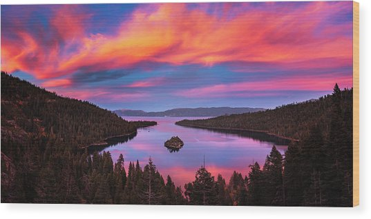 Emerald Bay Explode Wood Print