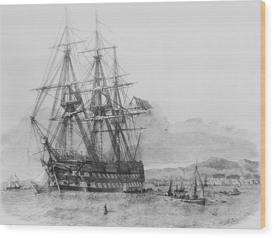 Emigration From Skye Wood Print by Illustrated London News