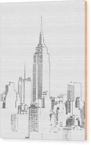 Empire State Building  Photographic Wood Print by Michael Duva