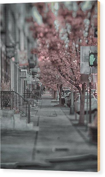 Empty Sidewalk Wood Print