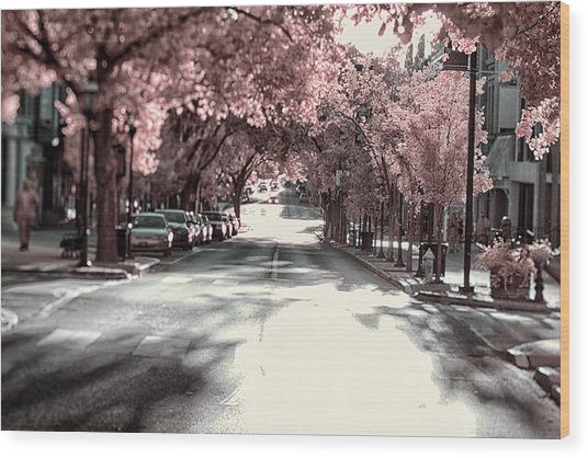 Empty Street Wood Print