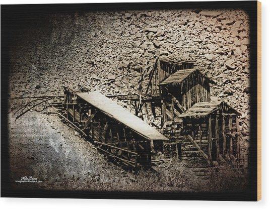 End Of The Line Mine Wood Print