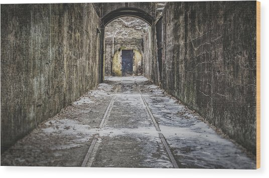 Wood Print featuring the photograph End Of The Tracks by Steve Stanger