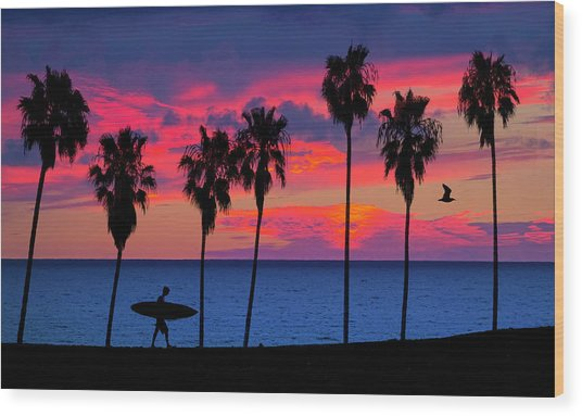 Endless Summer Wood Print